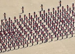 What Does A Picture Of 1,000 People Look Like In An Aerial View?